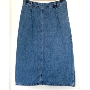 Mango Skirts - MANGO MNG Button-Down Denim Midi Skirt NWOT!